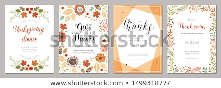 Autumn oak leaf flyer template Stock photo © orson