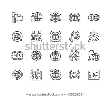 International Business Relations Map with Signs Stock photo © robuart