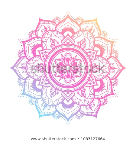 Sjabloon mandala ontwerpen illustratie Rood yoga Stockfoto © bluering