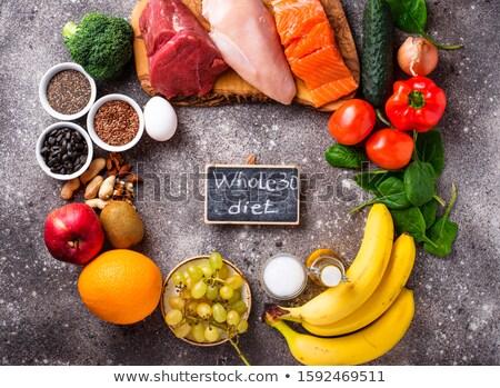 Produktu całość 30 diety zdrowa żywność żywności Zdjęcia stock © furmanphoto