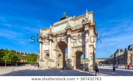 Arc de Triomphe du Carrousel near the Louvre in Paris  Stock photo © sarahdoow