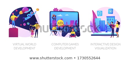 Virtual environment architecture vector concept metaphors Stock photo © RAStudio