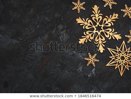 グリッター スノーフレーク 黒 文字 スペース ストックフォト © SArts