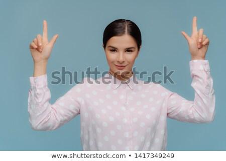 горизонтальный выстрел брюнетка молодые Lady формальный Сток-фото © vkstudio