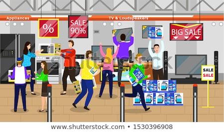 Férfi nő vásárlás vásár készülékek bolt Stock fotó © robuart