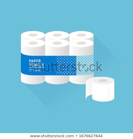 Vécépapír szalvéta kézzel rajzolt firka dizájn elem ikon Stock fotó © foxbiz