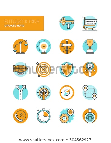 Goal Target Purpose Collection Icons Set Vector Stock photo © pikepicture