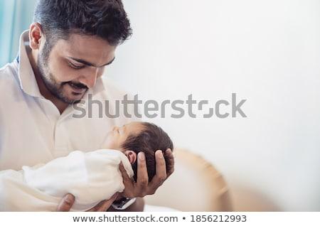 男 赤ちゃん 手 父権 ストックフォト © robuart