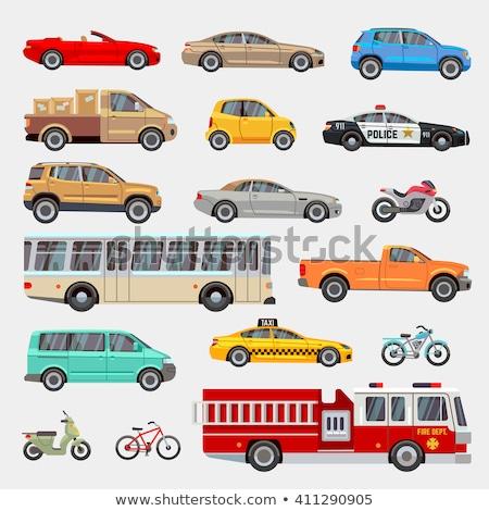 Transportu zestaw autobus taksówką pojazdy Zdjęcia stock © robuart