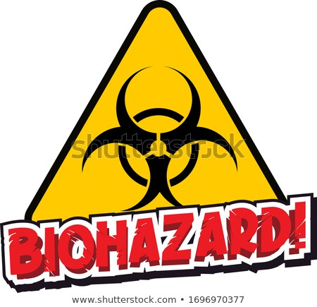 Font design for word biohazard with warning sign Stock photo © bluering