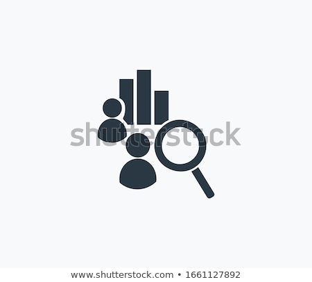 Manager Researching with Loupe of Diagram Vector Stock photo © robuart