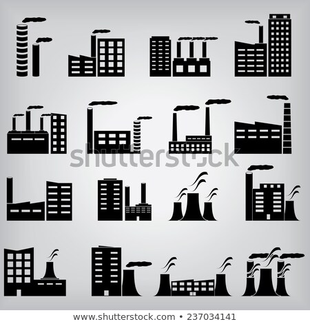 working power station icon vector outline illustration Stock photo © pikepicture
