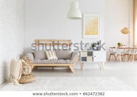 Modern bézs fehér lakás házak Berlin Stock fotó © elxeneize