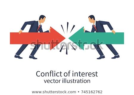 Politikai válság vektor metaforák tisztességtelen kormány Stock fotó © RAStudio