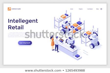 Mensen counter landing pagina elektronische Stockfoto © RAStudio