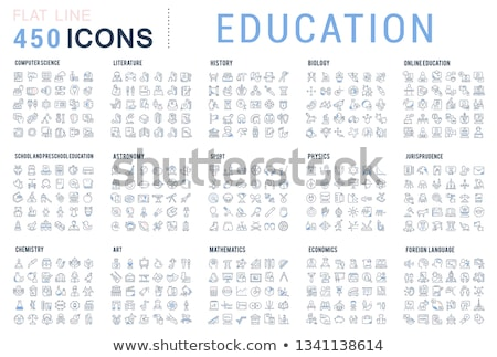 Uczelni web ikony użytkownik interfejs projektu Zdjęcia stock © ayaxmr