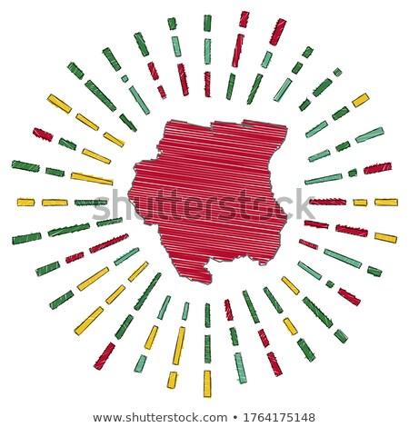 Suriname bandeira mão branco coração projeto Foto stock © butenkow