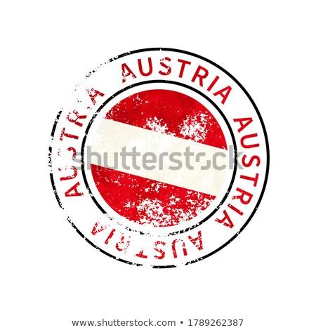 Ausztria felirat klasszikus grunge lenyomat zászló Stock fotó © evgeny89