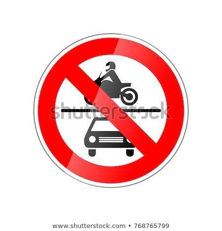 Geen auto motorfiets toegestaan verboden Rood Stockfoto © evgeny89