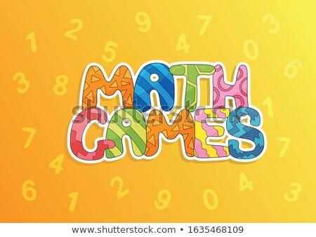 Rajz terv fogalmak matematika játékok bemutató Stock fotó © natali_brill