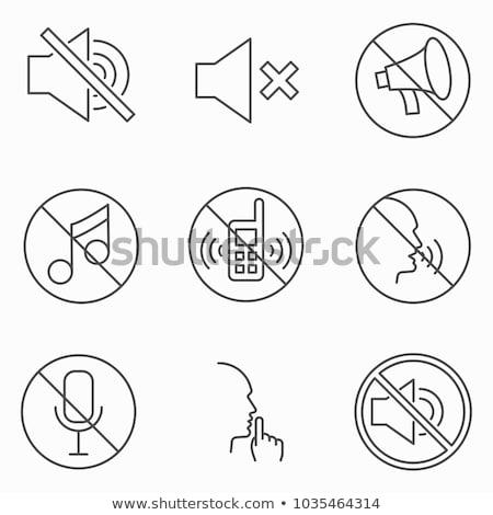Dźwięku zakazu ikona wektora ilustracja Zdjęcia stock © pikepicture