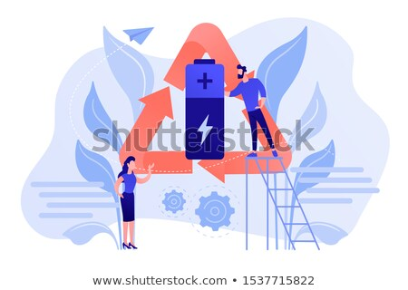 Environmentally friendly battery vector concept metaphors. Stock photo © RAStudio