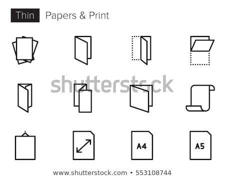 Impresso cor papel ícone vetor Foto stock © pikepicture