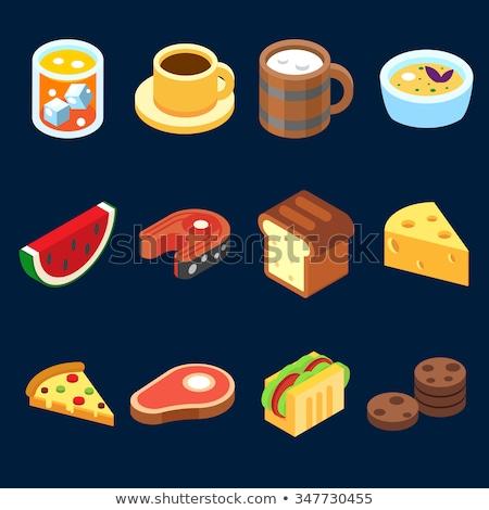 Bakkerij smakelijk voedsel isometrische vector Stockfoto © pikepicture