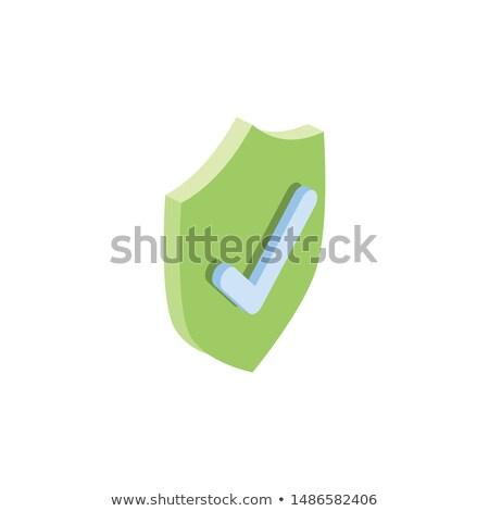 Shield Guard Protection Approved Mark isometric icon Stock photo © pikepicture