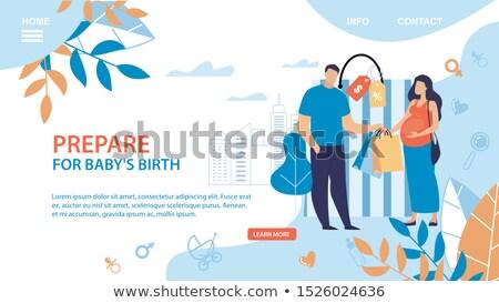 Maternidade serviços aterrissagem página grávida mulheres Foto stock © RAStudio