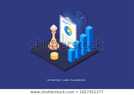 Research Document isometric icon vector illustration Stock photo © pikepicture