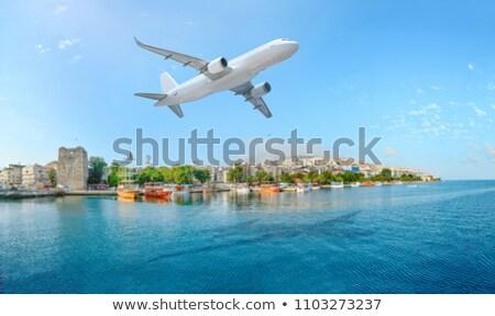 Vliegtuig landing strand eiland queensland Australië Stockfoto © ribeiroantonio