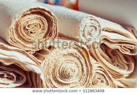 Zsemle gabona vászon szövetek csoport reggeli Stock fotó © Evgeniya_Uvarova