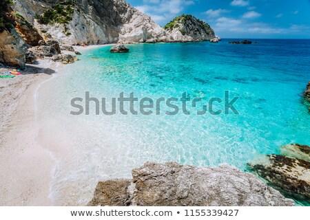 Emerald zee klif krabi water Stockfoto © timbrk