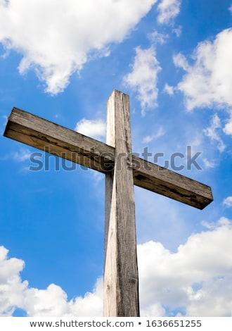 古い クロス キリスト 青空 イースター にログイン ストックフォト © inaquim