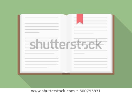 Open book with colorful bookmarks Stock photo © orson