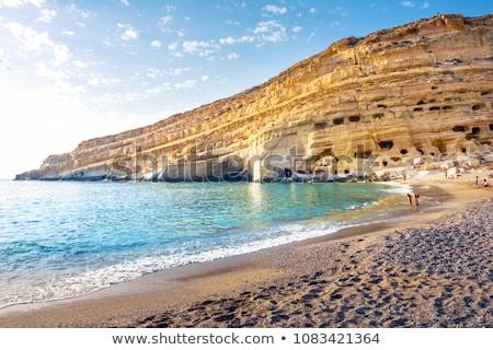 coastline at Matala in Crete Stock photo © prill