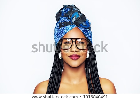Portrait of young beautiful woman with braid Stock photo © HASLOO