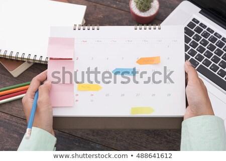 femme · d'affaires · l'ordre · du · jour · image · affaires · dame - photo stock © photography33