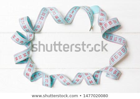 şerit · metre · ölçmek · uzunluk · nesneler · beyaz · çalışmak - stok fotoğraf © calvste