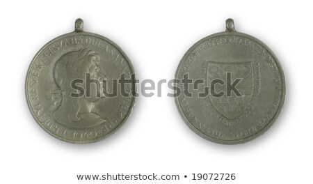 Antigua circular medalla 1940 húngaro fondo Foto stock © ojal