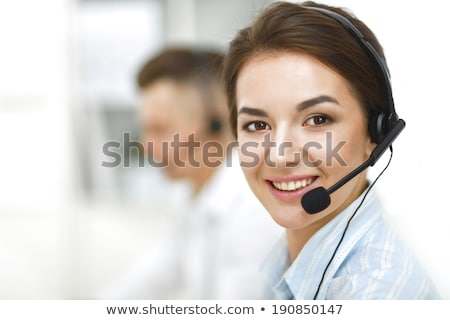 two male call center workers stock photo © photography33