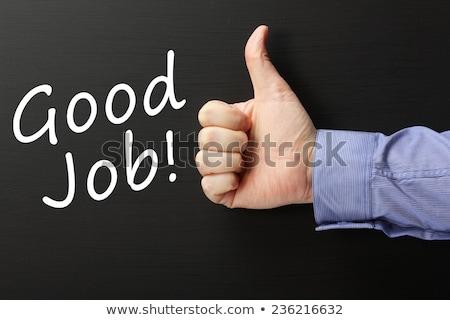 良い · 仕事 · 緑 · チョーク · ボード · 学校 - ストックフォト © bbbar