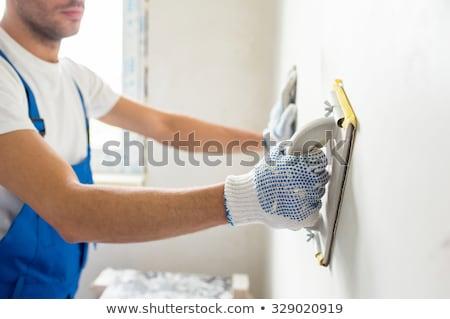 decorator sanding plaster stock photo © photography33