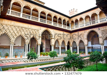 the interior patio of casa de pilatos seville stock photo © neirfy