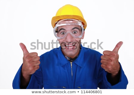 Crazy builder giving the thumbs-up Stock photo © photography33