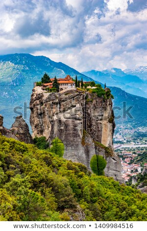 Landscape of  Meteora's monastery Stock photo © michey