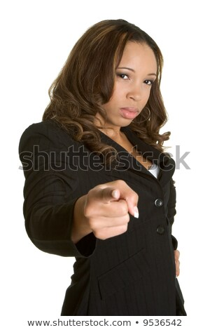 Stern businesswoman pointing finger Stock photo © photography33