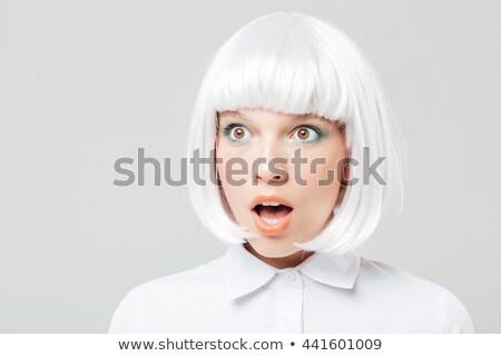 かなり 若い女性 かつら 孤立した ファッション モデル ストックフォト © acidgrey
