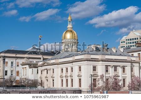 New Jersey Bina gökyüzü mavi gündoğumu mimari Stok fotoğraf © benkrut